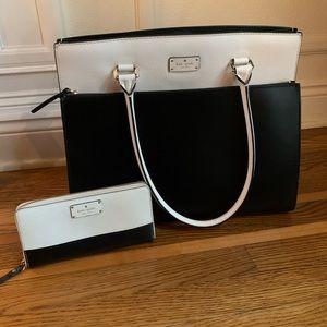 Kate Spade New York Cameron Leather Satchel/Wallet
